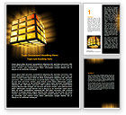 Business: Light Cube Word Template #07157