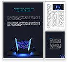 Technology, Science & Computers: Interagierende computer Word Vorlage #07168