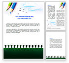 Education & Training: Drawing Notepad Word Template #07169