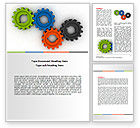 Consulting: Colorful Gears Word Template #07191