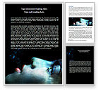 Art & Entertainment: Underwater Lady Word Template #07192