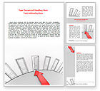 Consulting: Showing Way Out Word Template #07200