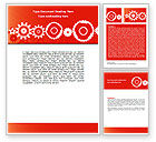 Consulting: Geared Red Word Template #07212
