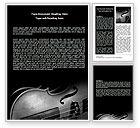 Art & Entertainment: Dark Violin Word Template #07219