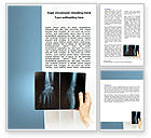 Medical: X-Ray Photography Word Template #07221