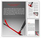 Business: Upwards Arrow Word Template #07225