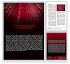 Technology, Science & Computers: Binärfolgen Word Vorlage #07249