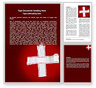 Medical: White Cross Word Template #07253