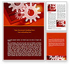 Consulting: Red Gears Word Template #07275