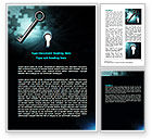 Consulting: Key and Keyhole Word Template #07287