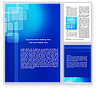 Abstract/Textures: Aqua Blue Theme Word Template #07292
