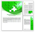 Consulting: Green Puzzle Word Template #07306