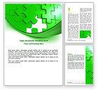 Consulting: 워드 템플릿 - 녹색 퍼즐 #07306