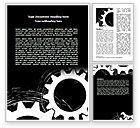 Utilities/Industrial: Rotating Wheels Word Template #07318
