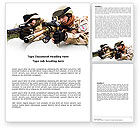 Military: Soldiers In Iraq Word Template #07321