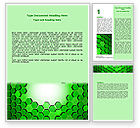 Abstract/Textures: Green Cells Word Template #07336