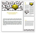 Business Concepts: Winking Smile Word Template #07337
