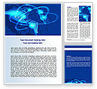 Global: Satellite Connection Word Template #07343