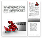 Sports: Dumbbells Word Template #07345