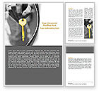 Consulting: Gold Key Word Template #07350