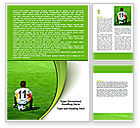 Careers/Industry: Little Football Player Word Template #07351