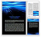 Abstract/Textures: Deep Blue Horizon Word Template #07363
