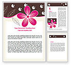 Abstract/Textures: Fuchsia Flower Word Template #07364