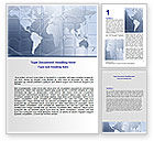 Careers/Industry: World Communication Routes Word Template #07365