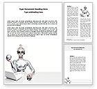 Technology, Science & Computers: Modelo do Word - pessoas de computador #07368