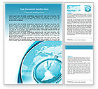 Global: Clock Aqua Word Template #07369