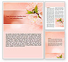 Nature & Environment: Peach Colored Word Template #07380