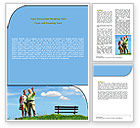 People: Old Couple Word Template #07405