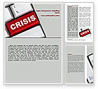 Financial/Accounting: Crisis Button Word Template #07410