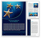 Careers/Industry: Starfish Background Word Template #07412