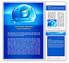 Nature & Environment: Blue Water Drop Word Template #07414