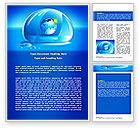 Nature & Environment: 워드 템플릿 - 푸른 물방울 #07414