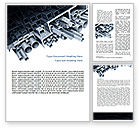 Utilities/Industrial: Steel Pipes Word Template #07415