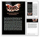 Business: Cupped Hands Word Template #07417