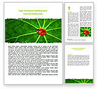 Nature & Environment: Bug on Leaf Word Template #07430