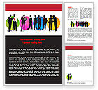 Business: Business People Theme Word Template #07438