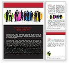 Business: Modelo do Word - negócio pessoas tema #07438