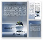 Business Concepts: Earth Egg Word Template #07439