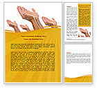 Religious/Spiritual: Begging Hands Word Template #07442