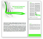 Business Concepts: 3D Abstract Tubes Word Template #07446