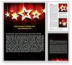Careers/Industry: Golden Stars Word Template #07448