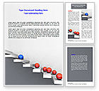Education & Training: Higher And Higher Word Template #07450