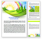 Education & Training: Country Vacation Word Template #07453