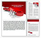 Business: Red Wrench Word Template #07454