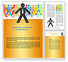 Business: Diverse People Word Template #07456