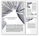 Construction: Business Center In Graphic Mode Word Template #07460